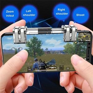 Image 4 - Draadloze Gamepad Voor Schakelaar pro Android Mobiele Telefoon PS3 PC Game Controller Voor PUBG Trigger Fire Knop Joysticks