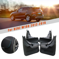 Front Rear Fender Mud Flaps For Mercedes For Benz (W166) M-Class 2012-2016 Splash Guards Reflective Mudguards Car Accessories