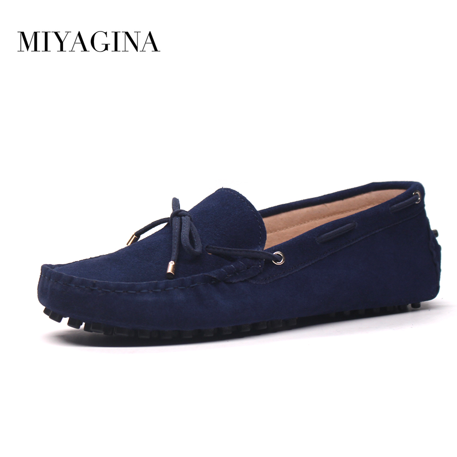 MIYAGINA Shoes Men 100% Genuine Leather Men Flat Shoes Casual Loafers Slip On Men's Flats Shoes Moccasins Male Driving Shoes men s genuine leather casual shoes handmade loafers for male men waterproof flat driving shoes flats