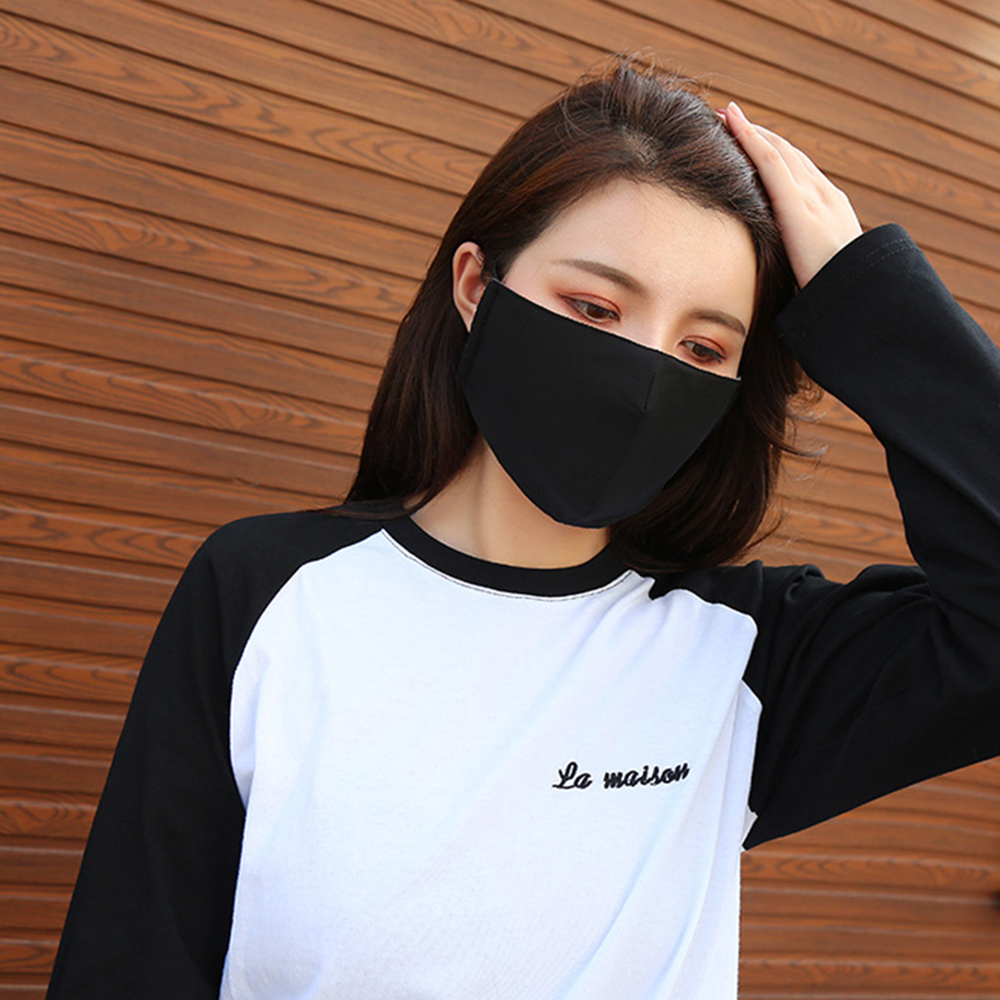 1 Pcs Cotton Black Health Dustproof Anti-Dust Unisex Mouth-Muffle Face Masks Warm Black Unisex Breathing Face Cover Outdoor 2019