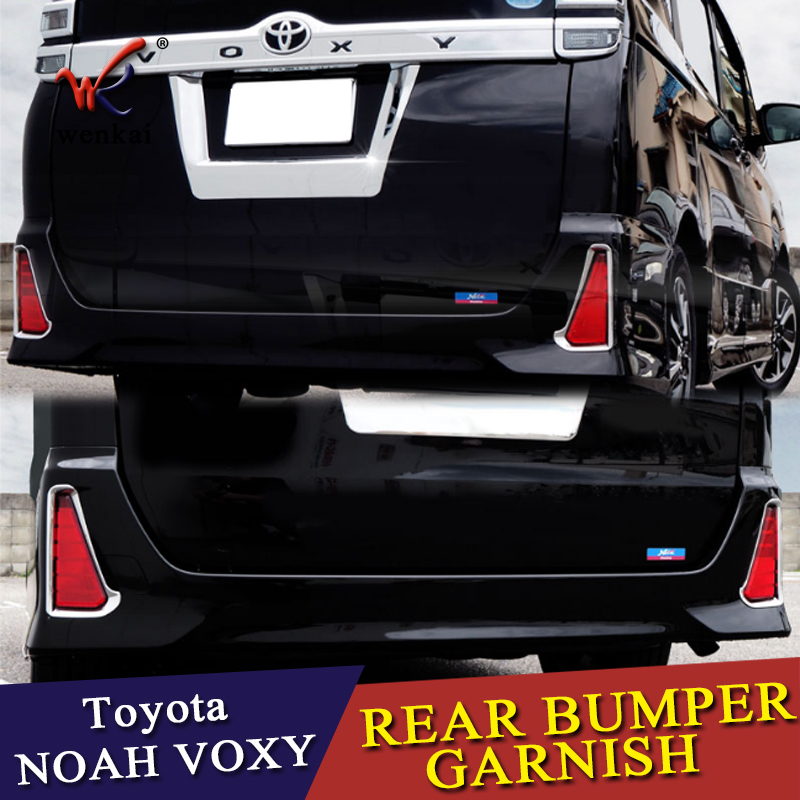 SUS304 Rear Gate Trunk License Plate Number Trim For Toyota Voxy2014-17