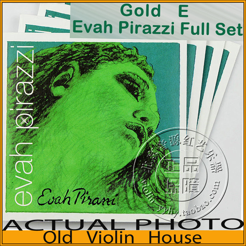Pirastro Gold E Evah Pirazzi violin strings (419521), full set,made in Germany,Free shipping free shipping evah pirazzi violin strings full set ball end made in germany for 4 4