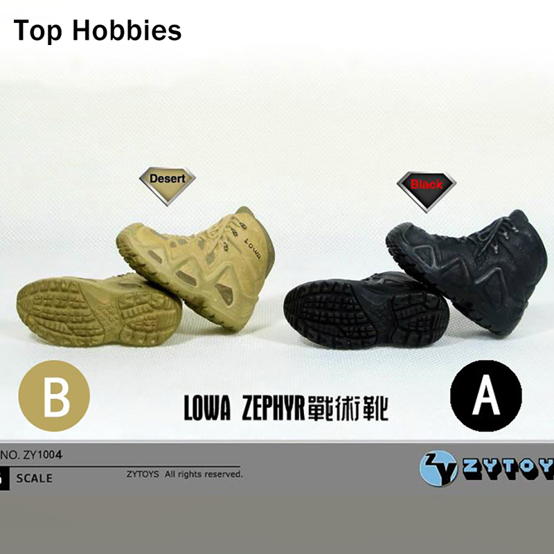 ZYTOYS 1/6 soldier doll model accessories LOWA tactical combat boots shoes spot Fit 12 Inch Phicen Action Figure No Feet Empty