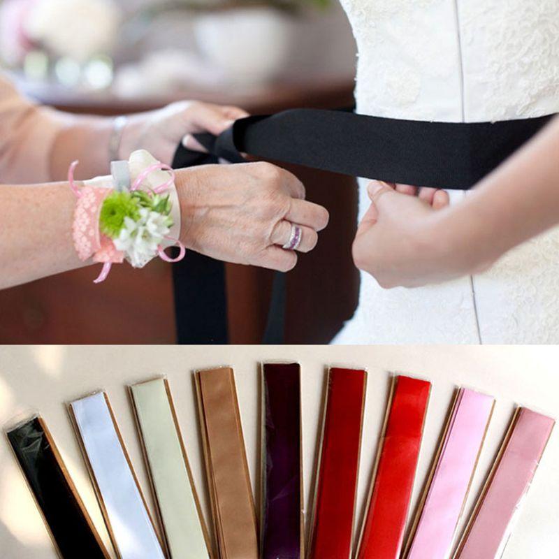 Extra Long Waist Decoration Ribbon Belts Women Modeling Bride Bridesmaid Wedding Dress Wide Waistband Solid Color