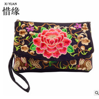 XIYUAN BRAND Fashion And Special Dual Use Lady Shoulder Messenger Bags Clutch Bag Ethnic Flowers Embroidery