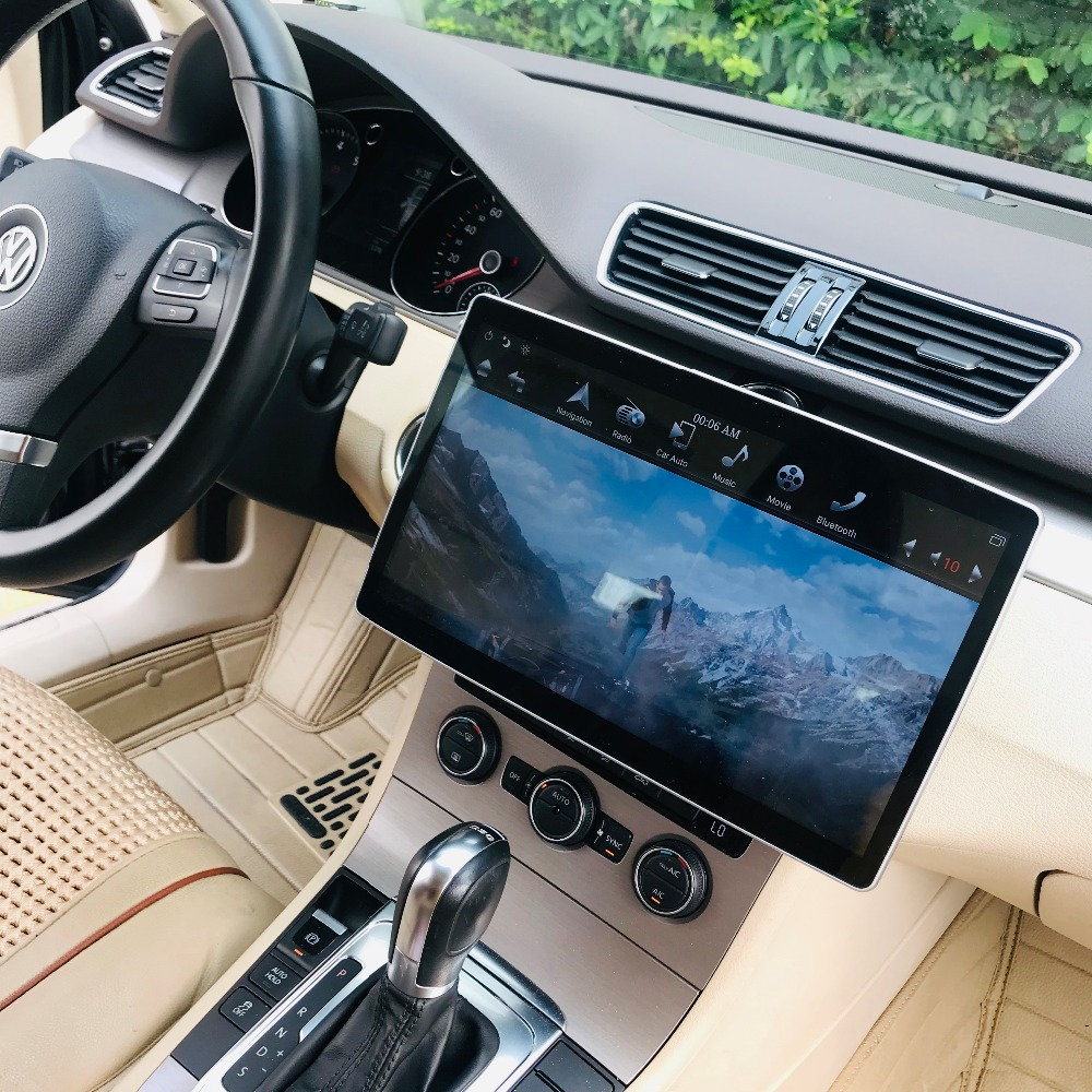 IPS Screen 2 din 12.8 6 Core Android 8.1 Universal Car video dvd Player Radio GPS Bluetooth WIFI Easy Connect 2GB+32GB