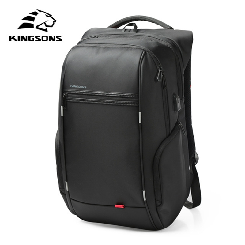 kingsons Men USB Charge Laptop Bag Anti-theft Notebook Backpack 15 17'' Waterproof  Backpack women School Bag DHL Free Shipping kingsons external charging usb function school backpack anti theft boy s girl s dayback women travel bag 15 6 inch 2017 new