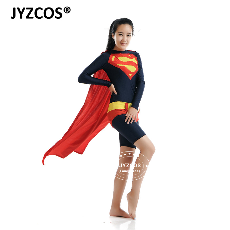 JYZCOS Superwoman Costume DC Comics Superhero Cosplay Costume Halloween Costume Sexy Fancy Dress Fantasia Disfraz for Women