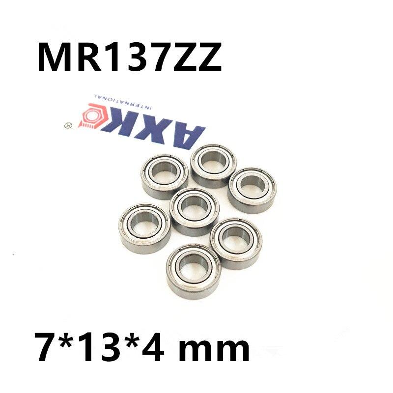 MR137ZZ Bearing ABEC-1 7*13*4 mm Miniature MR137 ZZ Ball Bearings L1370ZZ MR137ZZ L-1370ZZ 7*13*4 mm 1pcs 71822 71822cd p4 7822 110x140x16 mochu thin walled miniature angular contact bearings speed spindle bearings cnc abec 7