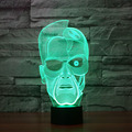 Customed Night Light 7 Color Changing  3D night light  and lamp Building light for bedroom  Promotional Gifts