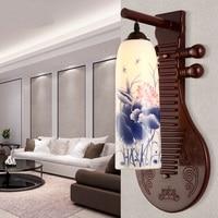 Chinese Wall Lamp Ceramic Lamp Antique Modern Minimalist Creative Living Room Bedroom Study Wall Lamp Retro