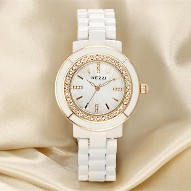 KEZZI analógico Banda Quartzo Moda Mulher Homem Casal Amante de Cerâmica Marca de Luxo Senhora de Pulso Watche Cerâmica k811 frete grátis