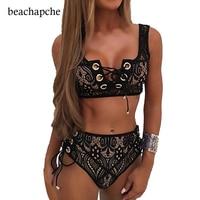 Sexy Lace 2 Pieces Bodysuit Women Combinaison Femme Summer Beach Two Pieces Body Suit Rompers Womens