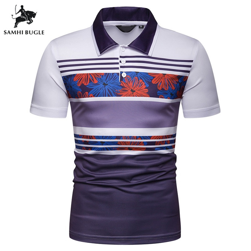 High Quality Striped Business   Polo   Shirt Men 2019 Summer Cotton Turn-down collar   polo   homme camisa   polo   masculina