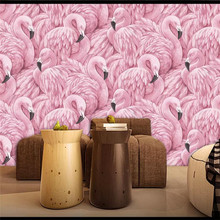 3D wallpaper modern fashion flamingo background wall professional production mural photo whole house custom