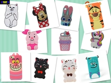 Cyato For Apple iPhone 5 5s 3D Cute Cartoon Sulley unicorn Cupcake Zebra Dog Soft Silicone Case Back Cover iphone 5C SE case