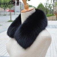2018 Genuine Fox Fur Collar Real Fur Scarf Winter Warm Fur Neck Warmer Women's Clothing Fur Collar Accessories Fashion 22 Colors