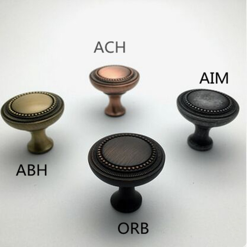 33mm european retro style furniture knob bronze antique copper drawer cabinet knob pull antique iron dresser handle knob ORB фен elchim 8th sense sunset copper 03082 33