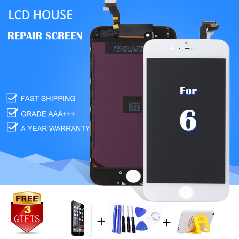 "LCD For iPhone 6 6G LCD Screen Display 4.7"" inch Full Screen with Touch Screen Digitizer Assembly 100% AAA Quality No Dead Pixel"