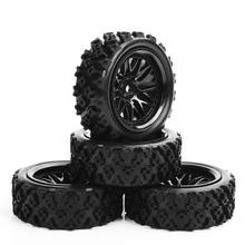 4pcs/set 1:10 RC Rubber Tyre Rim Car Racing Off Road Tires PP0487+BBNK цена в Москве и Питере
