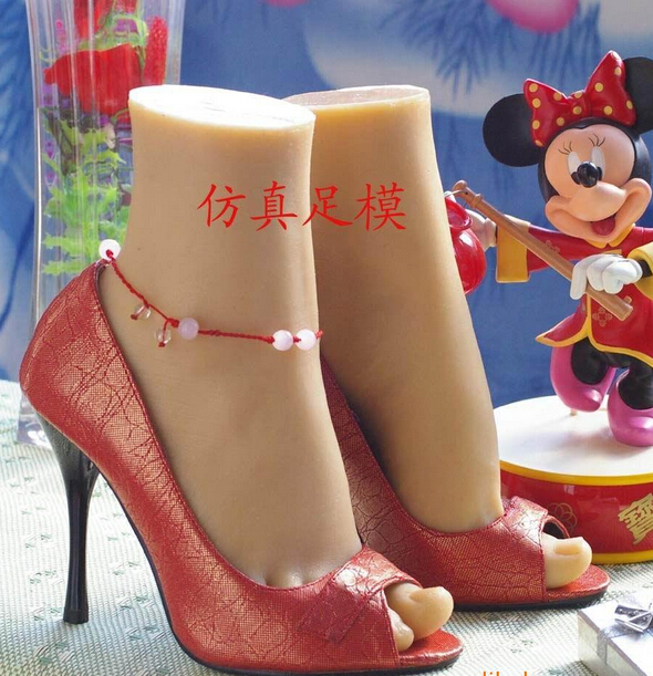 Free shipping Cheap  font b sex b font solid silicone feet modelfemale foot soft feet
