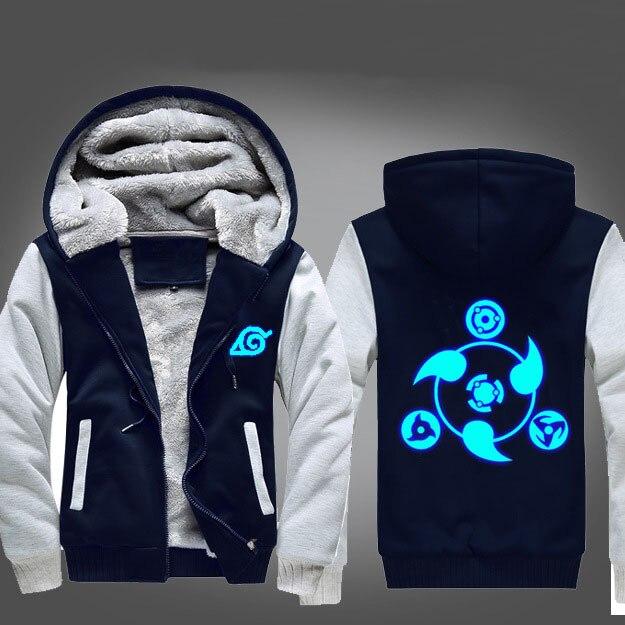 Anime NARUTO Akatsuki Cosplay Costume Luminous Jacket Sweatshirts Thicken Hoodie Coat Unisex