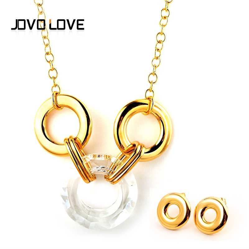 4 Styles Options Trendy Women Crystal Necklace Natural Stone Pendant Necklaces Gold Color for Women Wedding Gift