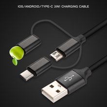 USB Type C Fast Charging usb c cable Type-c 3 in 1 data Cord Phone Charger For Samsung S9 S8 Note 8 for Xiaomi mi6 adapter Cable