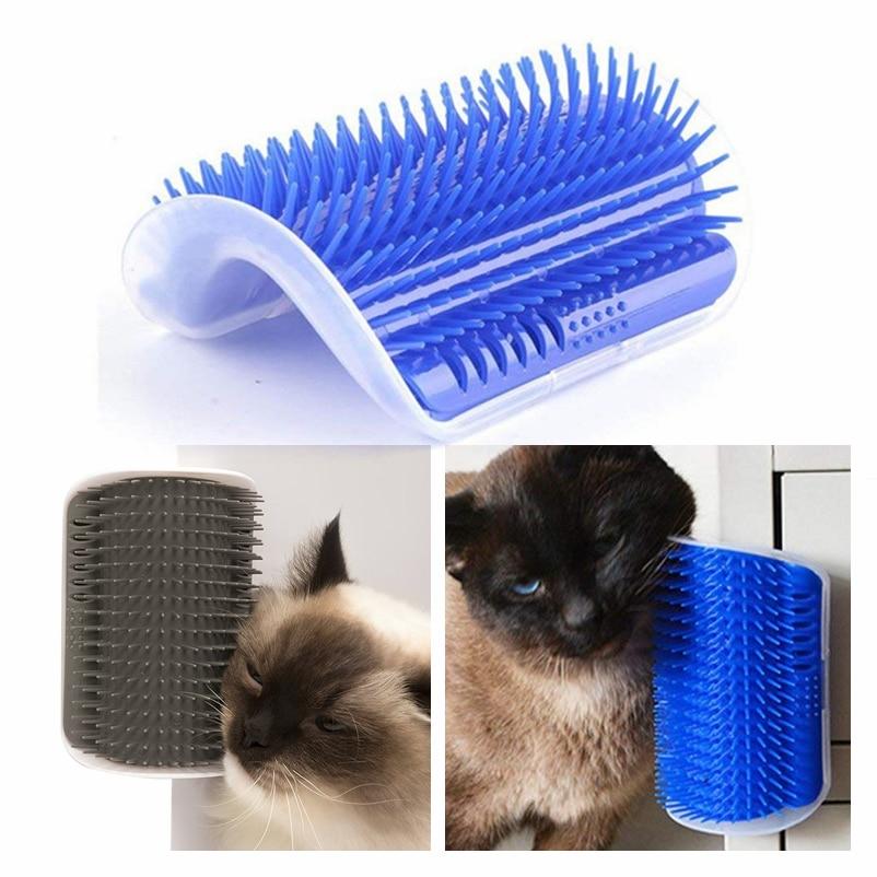 Pet Cat Self Groomer <font><b>Grooming</b></font> Tool <font><b>Hair</b></font> <font><b>Removal</b></font> Brush <font><b>Comb</b></font> For <font><b>Dogs</b></font> Cats <font><b>Hair</b></font> Shedding Trimming Cat <font><b>Massage</b></font> Device Cat Toys