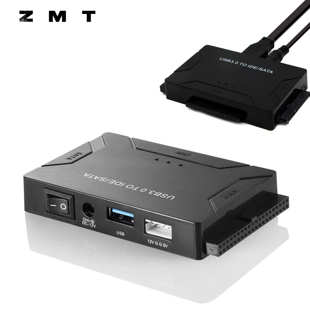 USB 3.0 to SATA IDE ATA Data Adapter HDD SSD Hard Disk Driver Converter 500MB/S 1 Drive 3 USB3.0 IDE SATA Adaptor 2.5