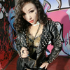 Fashion Bullet Rivet Leather Clothing Jacket Female Singer Ds Costume Costumes Top Outerwear Jazz Dance