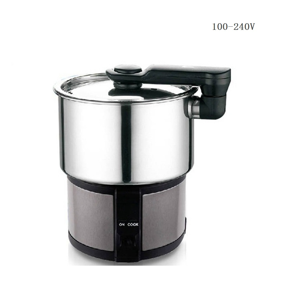 DMWD 110V 220V 1.2L Portable Electric Cooker For Abroad Travel 304 Stainless Steel Mini Electric Kettle Milk Water Soup Pot|Multicookers| |  - title=