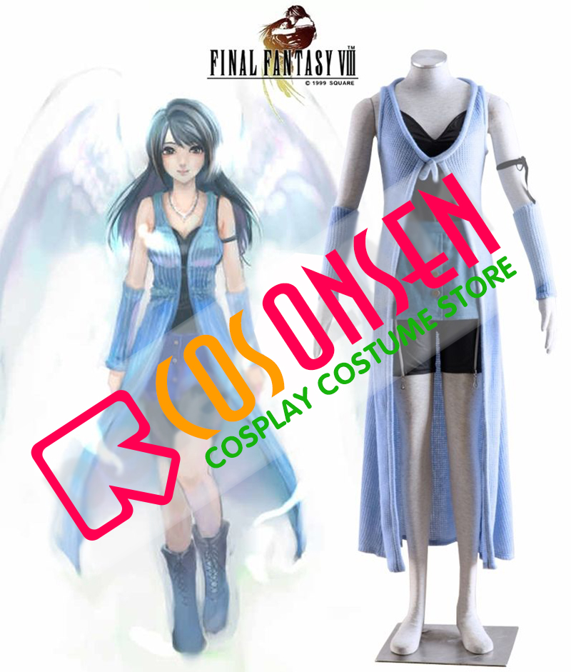 Final Fantasy VIII FF8 Rinoa Heartilly Casual Clothing Cosplay Costume COSPLAYONSEN Any Sizes
