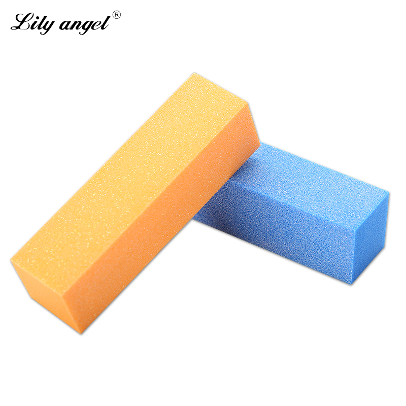 Lilyangel Colorful Sponge Sanding font b Nail b font File Buffer Block for UV Gel font