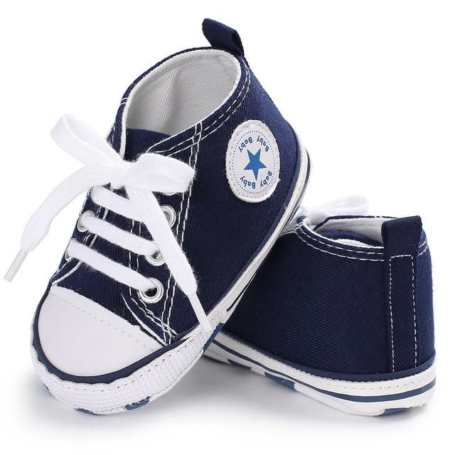 2018 Демисезонный холст одежда для малышей Обувь для девочек Обувь для мальчиков Обувь для малышей Bebe sneakerslace новорожденных детские мокасины Обувь для младенцев