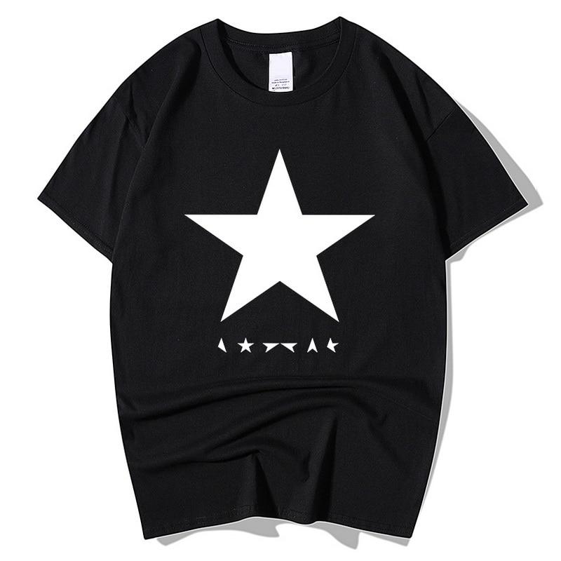 2018 summer David Bowie black star men t shirts 100% cotton high quality streetwear casual hipster tops tees brand t-shirt