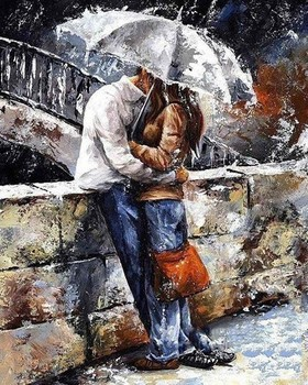 Handmade Romantic Lover Modern Wall Art Canvas Painting for Home Decor Figure Oil Painting No Framed High Quality