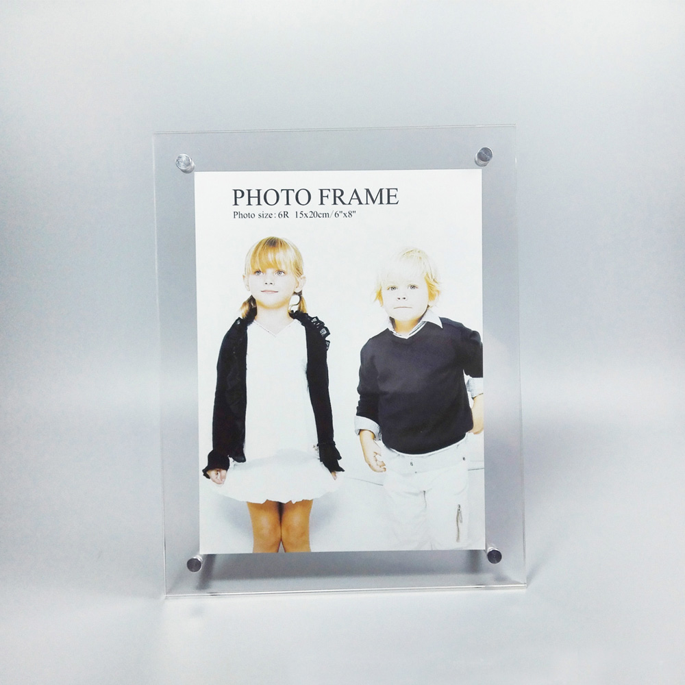 (Pack/5 units) 6 Inch Screw Acrylic Picture Photo Frames For Photo ,Signage ,Certificate PF002