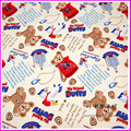 140 * 50cm1pc Даффи Ткань 100% Хлопок Ткань Telas Лоскутное Печатных Мини Медведь Ткани Швейная Материал DIY Детская Одежда Лоскутное