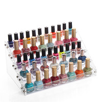5 Tiers New Promotion Makeup Cosmetic Clear Acrylic Organizer Lipstick Jewelry Display Stand Holder Nail Polish Rack Wholesale