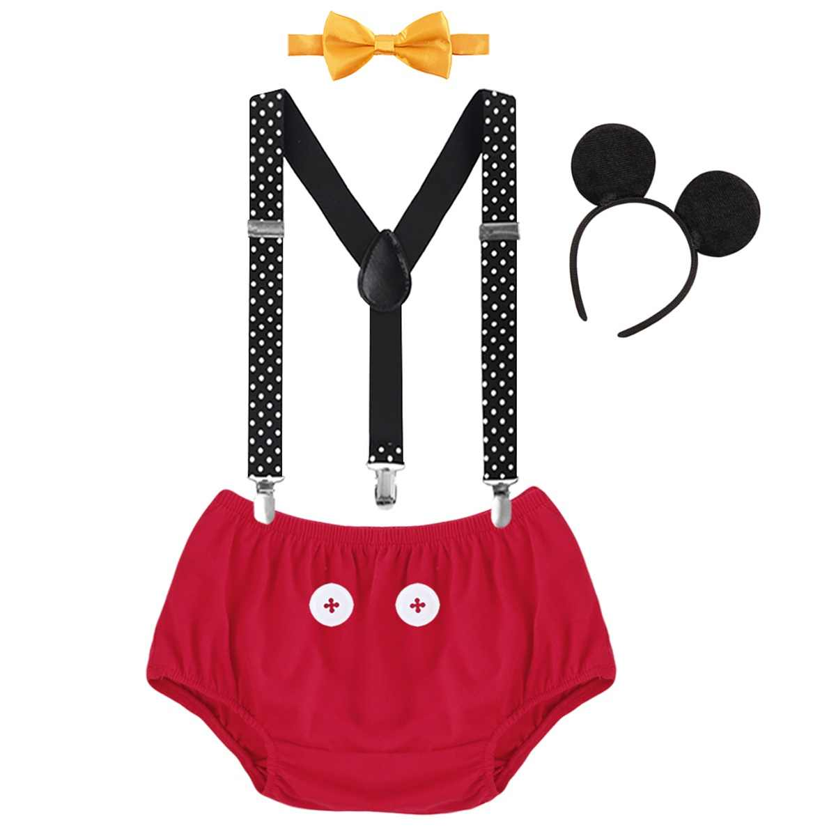 Disney Baby Boy Onesies Mickey Mouse 1st Birthday Outfit