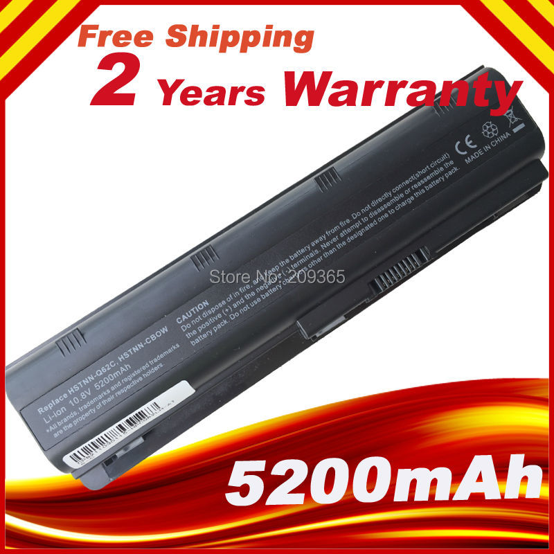 Battery for HP pavilion G6 G62 G56 G72 CQ32 CQ42 CQ43 CQ56 CQ62 CQ72 MU06 MU06XLHSTNN-UB0W DV6 DM4 MU06 MU09 593553-001 100wh original new laptop battery mu09 for hp pavilion g4 g6 g7 g32 g42 mu06 g56 g62 g72 cq32 cq42 cq62 cq72 dm4 593553 001