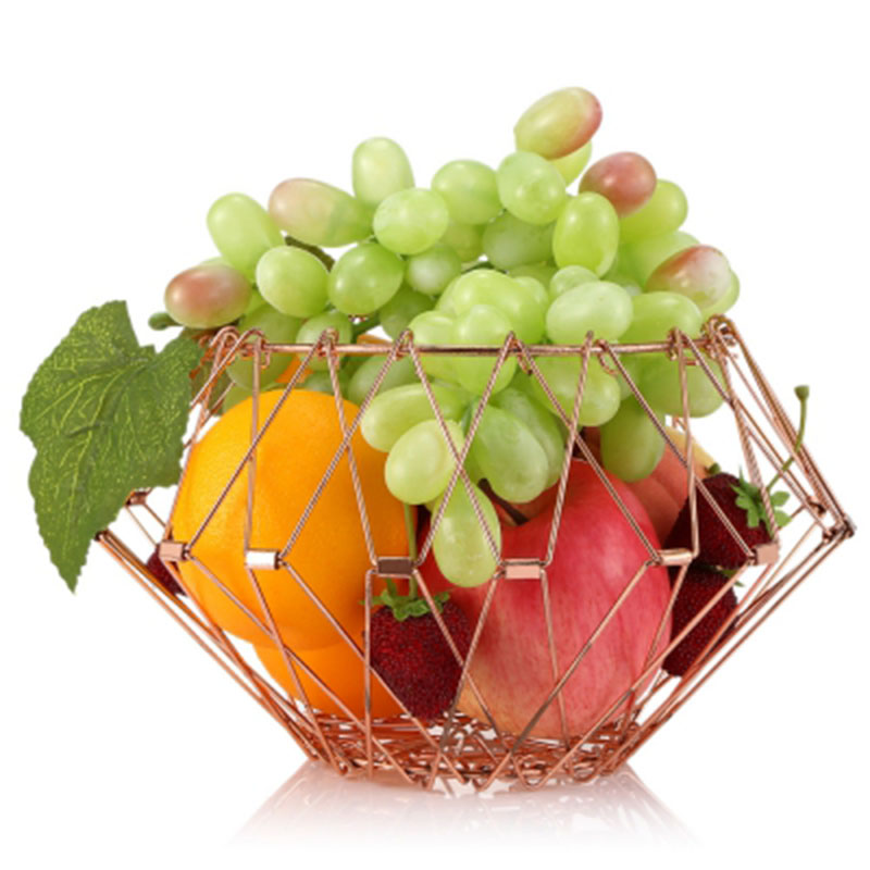 Storage Fruit Basket Retractable Folding Stainless Steel Fruits Vegetables Basket Home Organization and Storage Panier Rangement