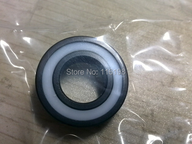 6000-2RS full SI3N4 ceramic deep groove ball bearing 10x26x8mm 6000 2RS P5 ABEC5 6000 2rs sealed deep groove ball bearing 10mm inner dia black silver tone