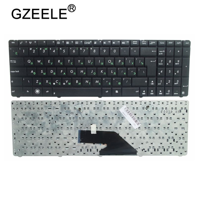 GZEELE Russian Keyboard For Asus K75 K75D K75DE K75A K75V K75VJ K75WM Laptop Keyboard RU Layout Black