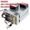 8000W 36V power supply 36V 222A ON/OFF 0-5V analog signal control 0-36V adjustable power supply 36V High-Power PSU AC to DC