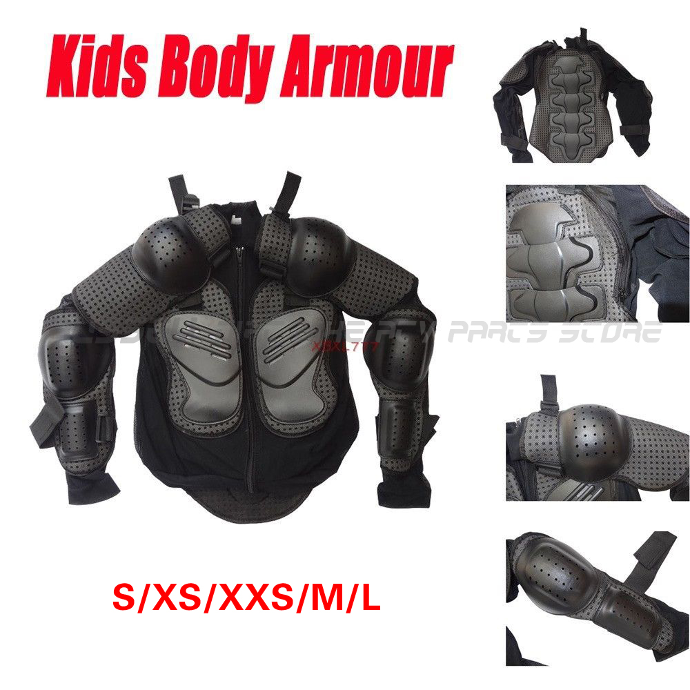 Motocross Kids Youth Body Armour Motor Dirt Bike Quad Protector S XS XXS M L