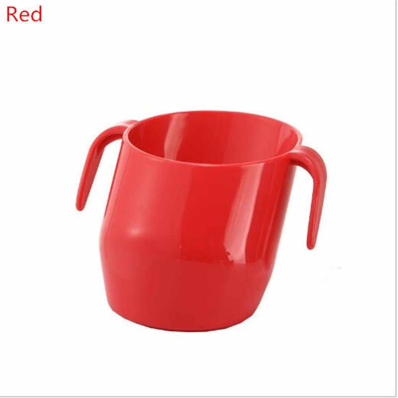200ML เด็ก BPA ฟรีการฝึกอบรมให้อาหารถ้วย Handle Bevel ปากปลอดภัย Leakproof ถ้วยสำหรับเด็ก