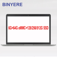 BINYEAE Laptop 14 inch 6GB RAM 64GB eMMC With 128/256GB SSD Or 320/500GB HDD Windows 10 Ultraslim Notebook Computer IPS Screen