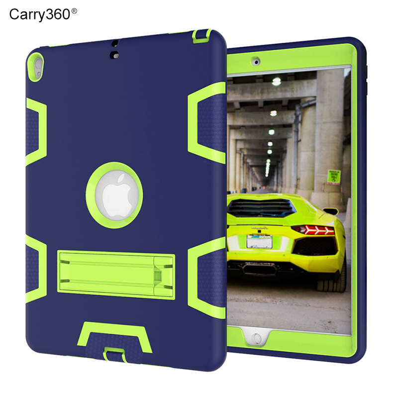 Case for iPad Pro 10.5, Carry360 Kids Safe Armor Shockproof Heavy Duty Silicone +PC Stand Back Case Cover for iPad Pro 10.5 inch